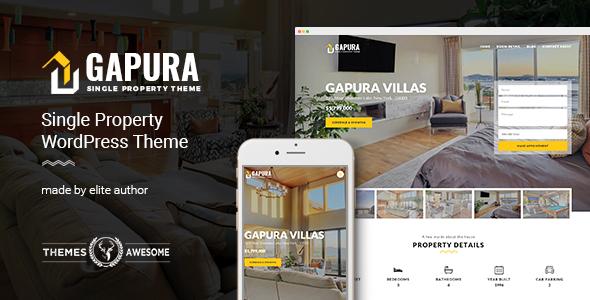 Wordpress Immobilien Template Single Property WordPress Theme - Gapura