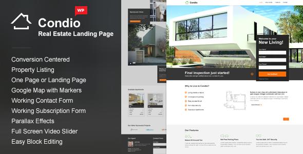Wordpress Immobilien Template Single Property WordPress Theme - Condio