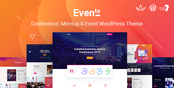 Wordpress Entertainment Template Eventa | Event Conference WordPress Theme