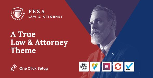 Wordpress Immobilien Template Fexa- Lawyer & Attorney WordPress Theme