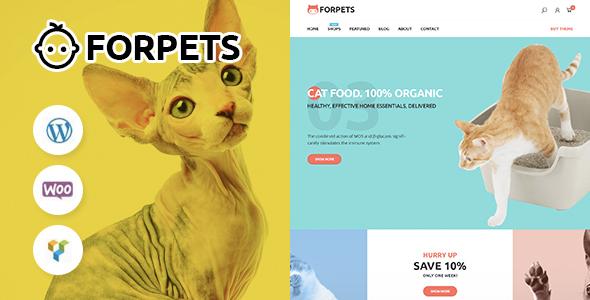 Wordpress Shop Template Forpets - food Shop WooCommerce Theme