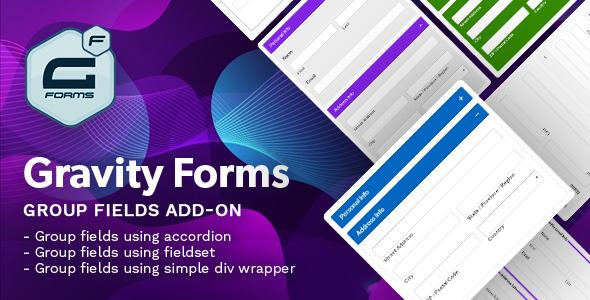 Wordpress Formular Plugin Gravity Forms Group Fields Add-on - (Fieldset, Accordion)