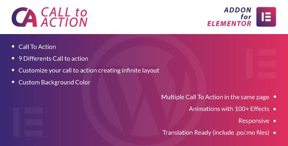 Wordpress Add-On Plugin Call To Action for Elementor WordPress Plugin