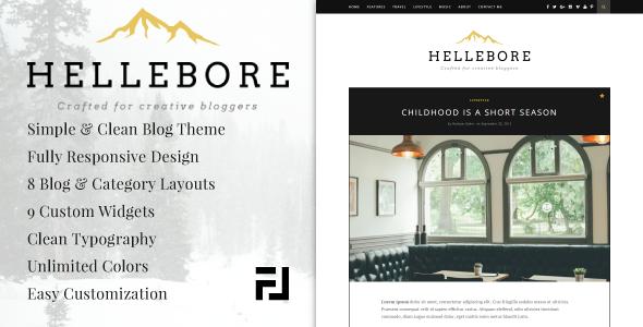 Wordpress Blog Template Hellebore - A Responsive WordPress Blog Theme