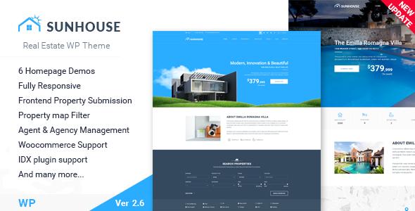 Wordpress Immobilien Template Real Estate WordPress | Sun House