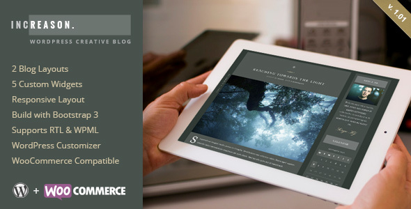 Wordpress Blog Template IncReason - Creative WordPress Blog Theme