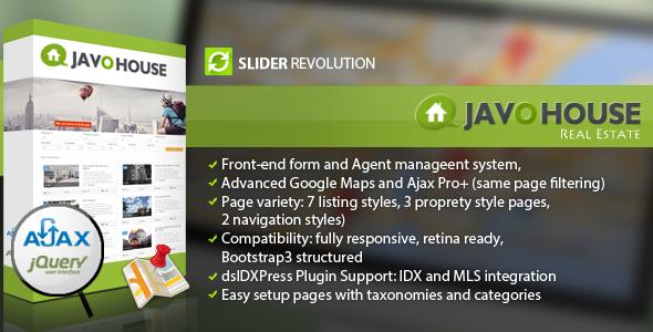 Wordpress Immobilien Template Javo House - Real Estate WordPress Theme