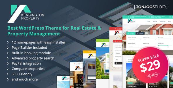 Wordpress Immobilien Template Kensington - Real Estate and Property Management WordPress Theme