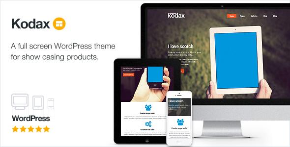 Wordpress Corporate Template Kodax - Full Screen Landing Page