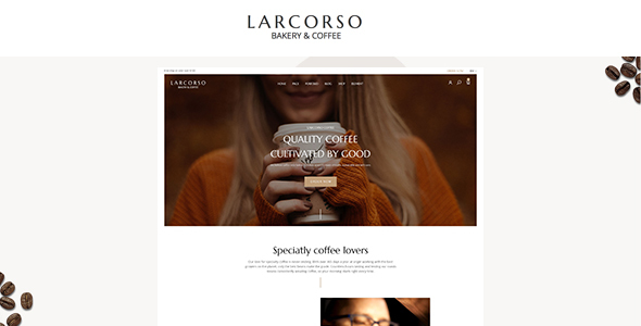Wordpress Shop Template Larcorso - Coffee Shop WooCommerce Theme