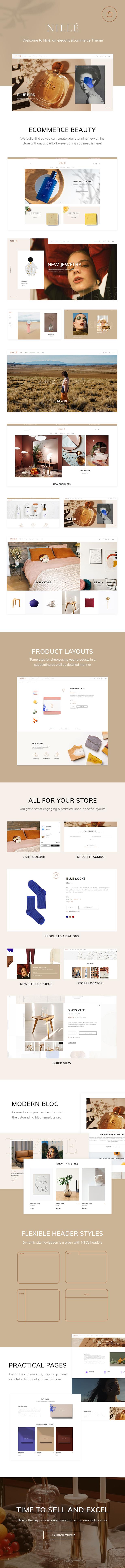 Wordpress Shop Template Nillé - Elegant eCommerce Theme