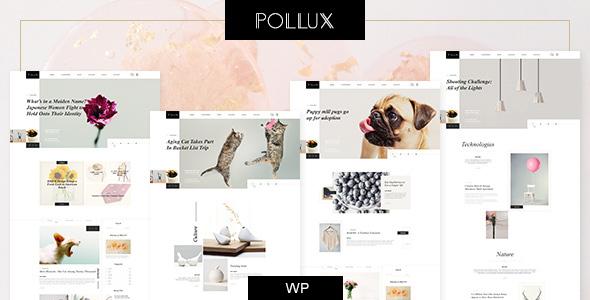 Wordpress Blog Template Pollux - Blogs & Magazines Clean Theme