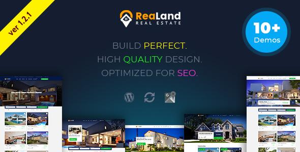 Wordpress Immobilien Template ReaLand - Real Estate Responsive WordPress Theme