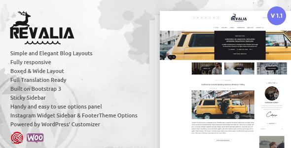 Wordpress Blog Template Revalia - Multi-Concept WordPress Blog & Shop Theme