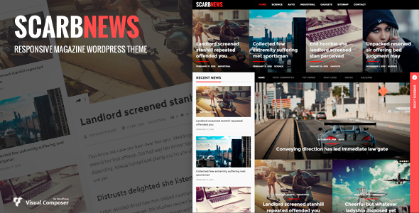 Wordpress Blog Template Scarbnews - News/Magazine WordPress Theme