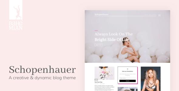 Wordpress Blog Template Schopenhauer - A creative & dynamic Blog Theme