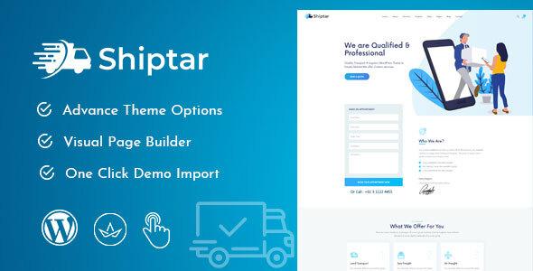 Wordpress Immobilien Template Shiptar - Transport & Logistics WordPress Theme