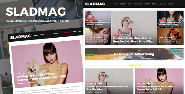 Wordpress Blog Template Sladmag - Responsive News/Magazine WordPress Theme
