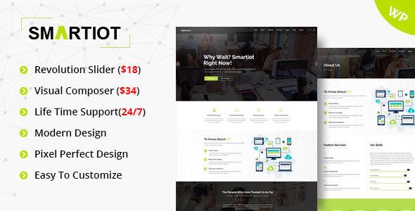 Wordpress Corporate Template SmartIOT - Multipurpose Corporate WordPress Theme