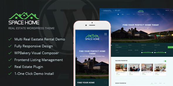 Wordpress Immobilien Template Space Home - Real Estate WordPress Theme