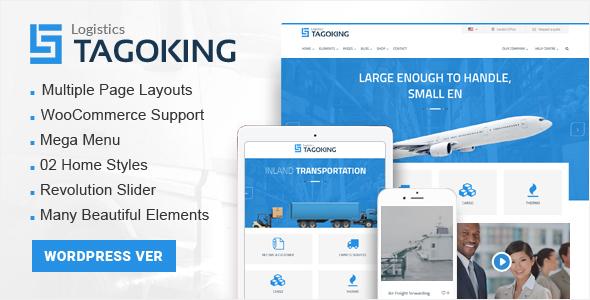 Wordpress Corporate Template Tagoking - Logistics WordPress theme