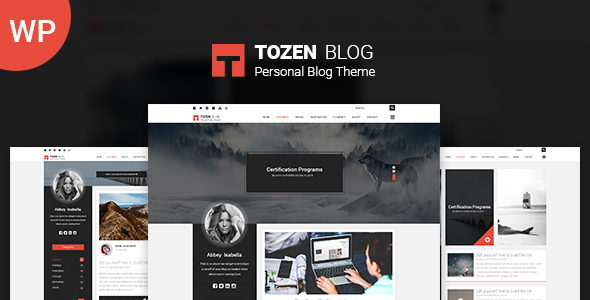 Wordpress Blog Template Tozen – Personal WordPress Blog Theme