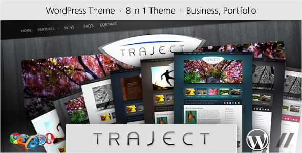 Wordpress Corporate Template Traject - WordPress Portfolio and Business Theme