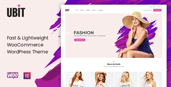 Wordpress Shop Template Ubit - Fashion Store WooCommerce Theme