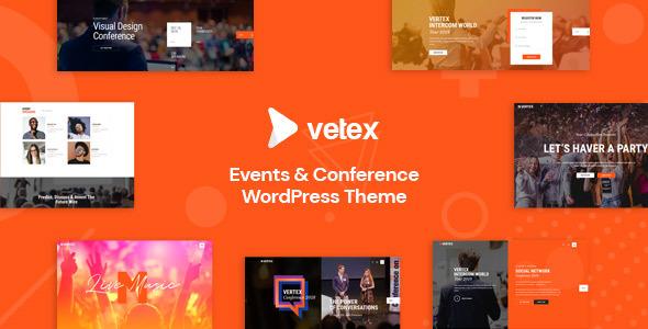 Wordpress Entertainment Template Vetex - Event & Conference WordPress Theme