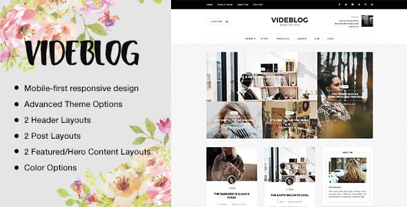 Wordpress Blog Template Videblog: A Responsive WordPress Blog Theme