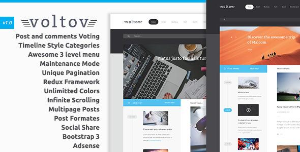 Wordpress Blog Template Voltov - Blog and Magazine WordPress Theme
