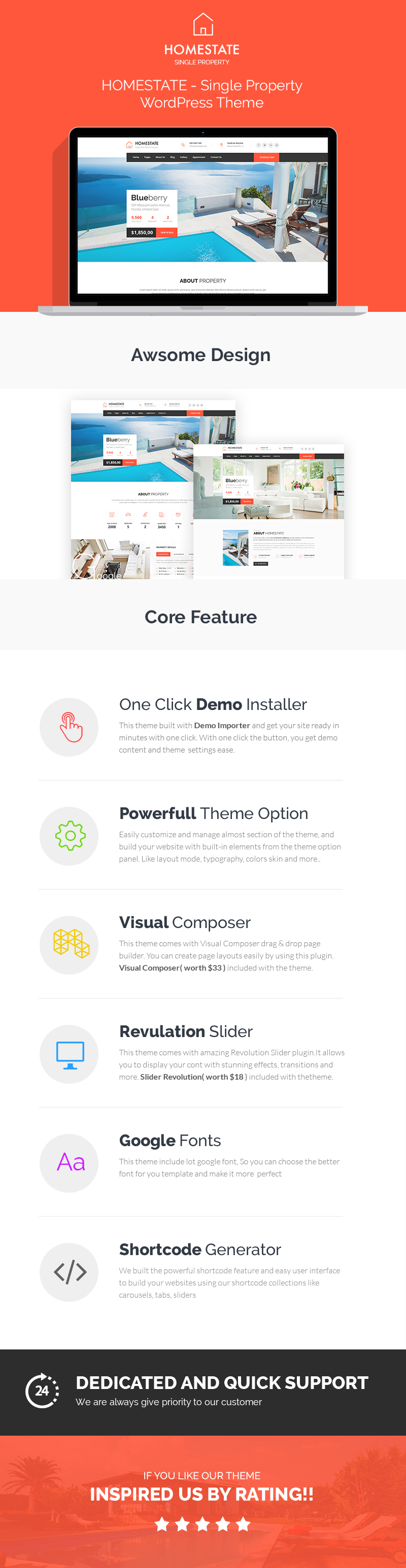 HOME STATE - Single Property Immobilien WordPress Theme - 1