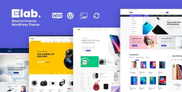 Wordpress Shop Template eLab - Electronics Shop WordPress Theme