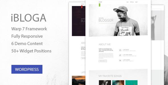 Wordpress Blog Template iBloga — Multipurpose Blog Template for creative professions
