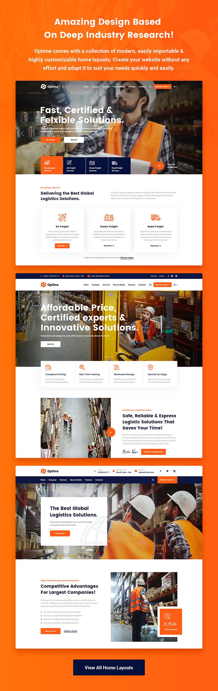 Optime - Logistik und Transport WordPress Theme - 5