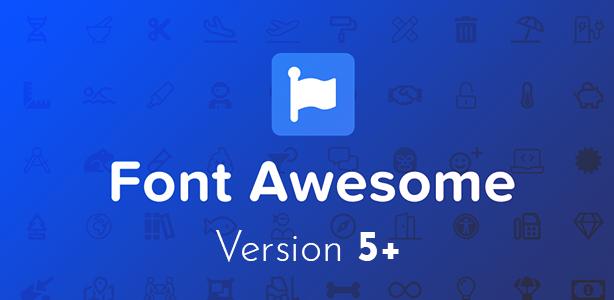 Endorfino WordPress Theme - Font Awesome 5