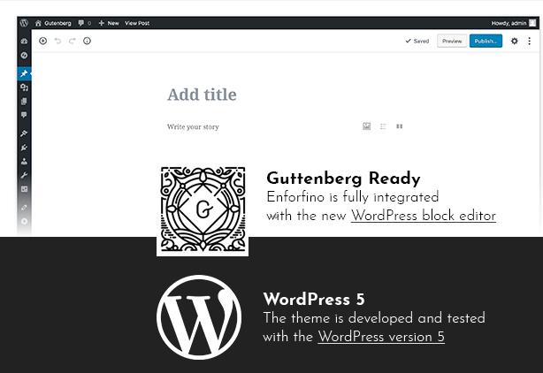 Endorfino WordPress Theme - Guttenberg Support