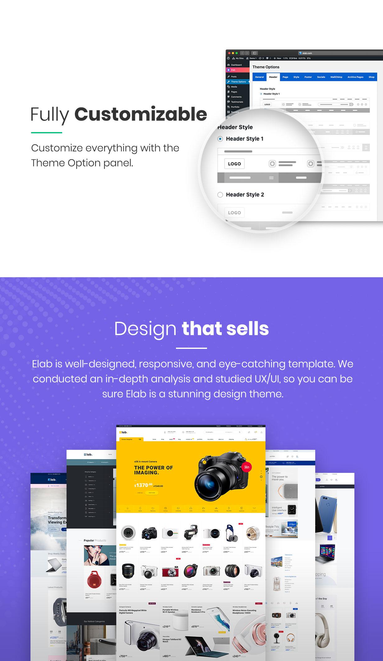 Elektrogeschäft WordPress Theme