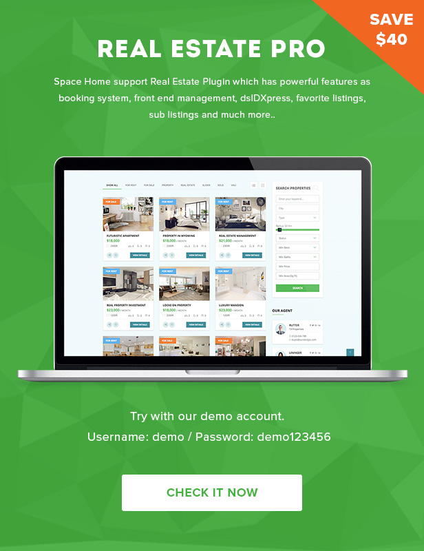 Space Home - Immobilien WordPress Theme - 4