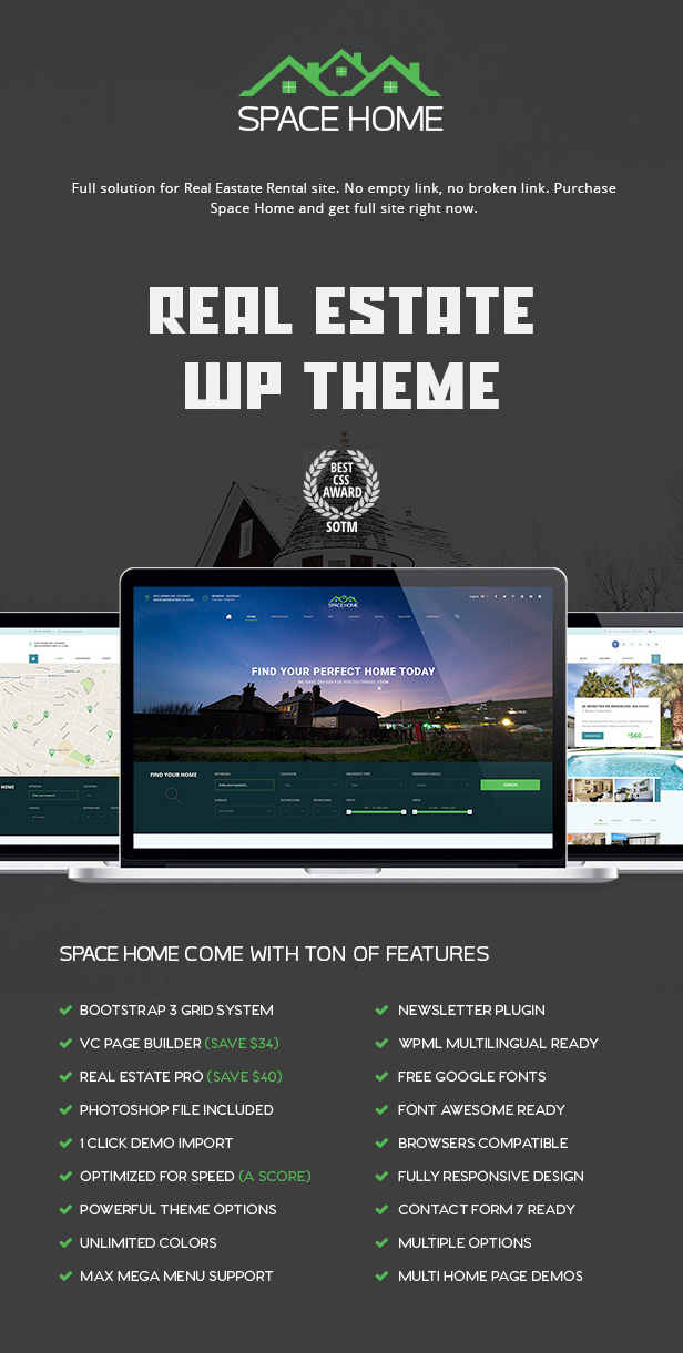 Space Home - Immobilien WordPress Theme - 2