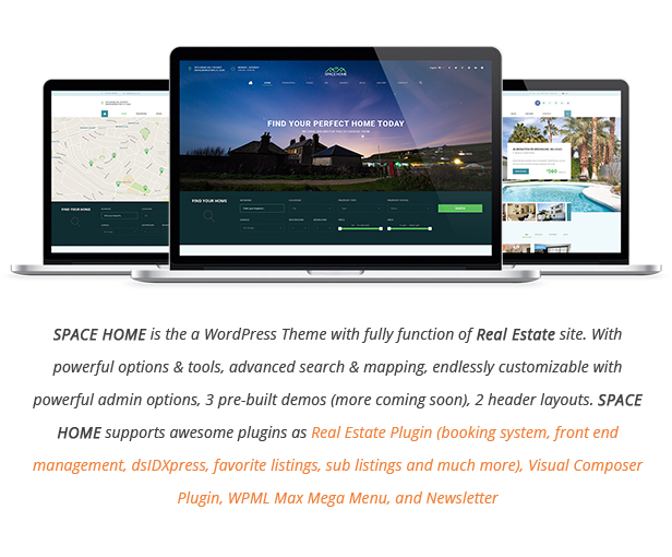 Space Home - Immobilien WordPress Theme - 3