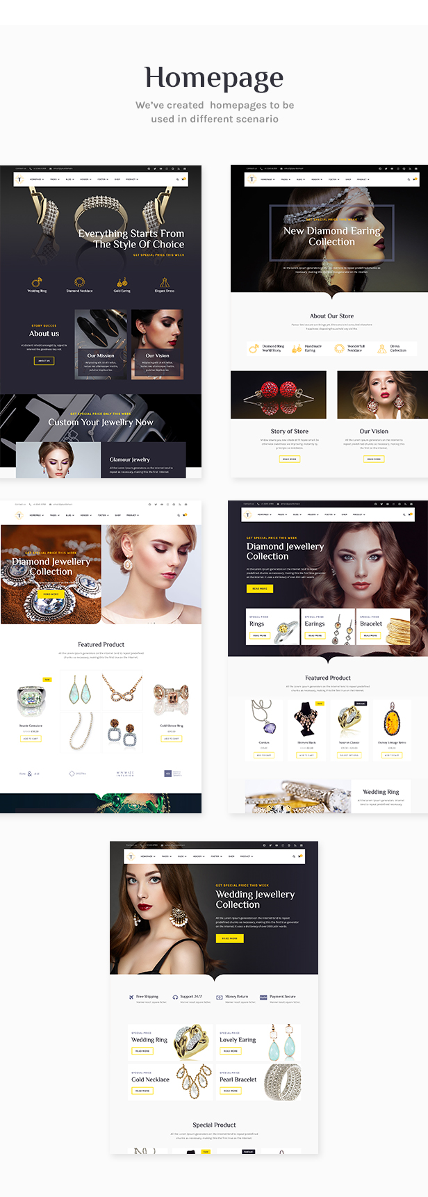 Tisara Jewelry WooCommerce Theme - 2