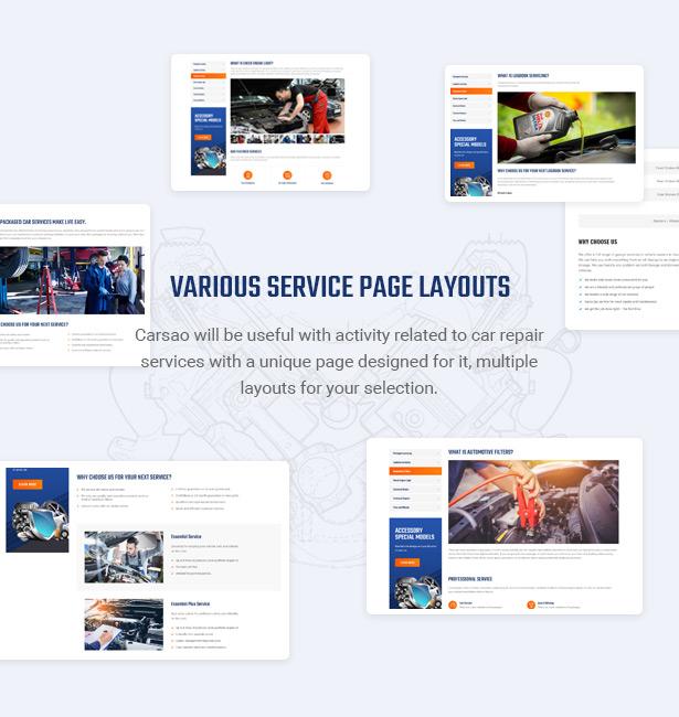 Beeindrucken Sie Ihre Kunden mit dem besten Serviceangebot - Carsao - Auto Service & Auto Mechanic WordPress Theme