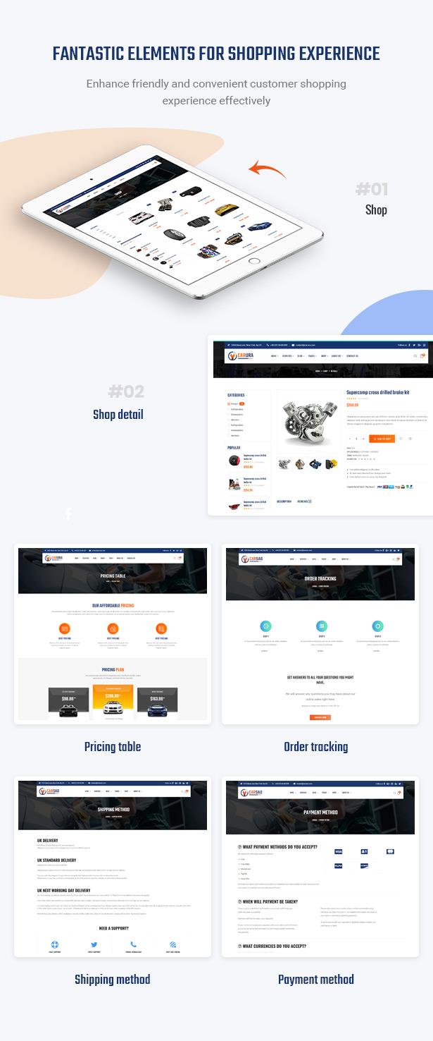 Optimieren Sie den Einkaufsprozess in der Website - Carsao - Auto Service & Auto Mechanic WordPress Theme