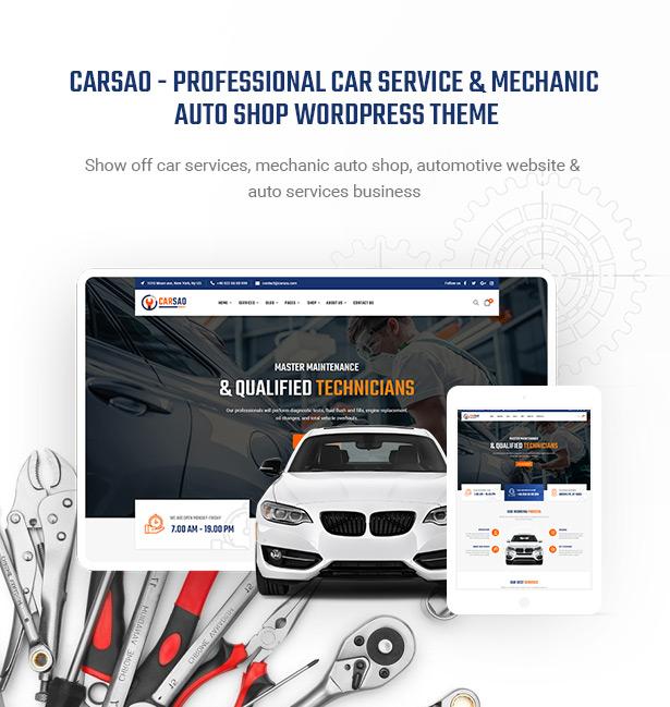 Carsao - Auto Service & Auto Mechaniker WordPress Theme