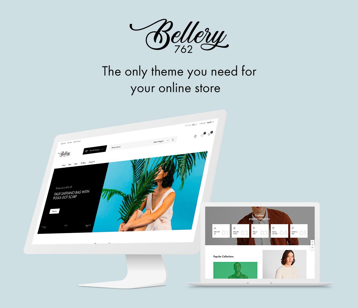 Bellery - Modern & Minimal WooCommerce Theme - 1