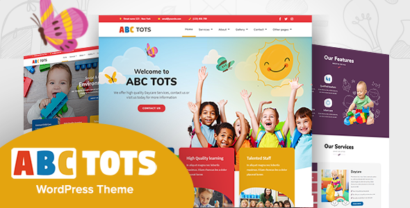 Wordpress BILDUNG Template Abc Tots - Kindergarten WordPress Theme