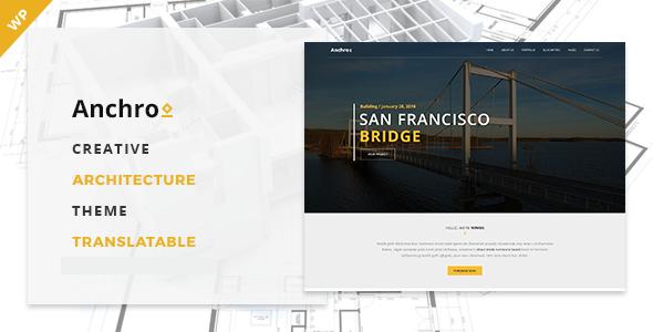 Wordpress Corporate Template Anchro - Creative Architecture WordPress Theme
