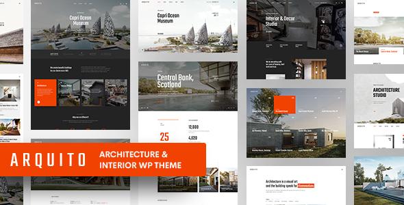 Wordpress Immobilien Template Arquito - 3D Architecture & Interior WordPress Theme