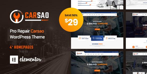 Wordpress Immobilien Template Carsao - Responsive Car Service WordPress Theme